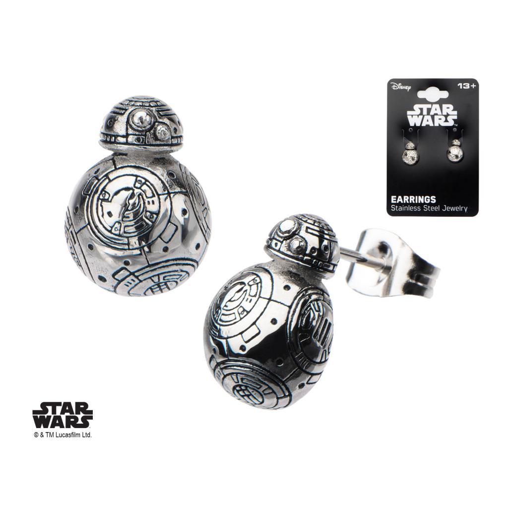 STAR WARS - Stainless Steel BB-8 Droid Polish 3D Stud Earrings