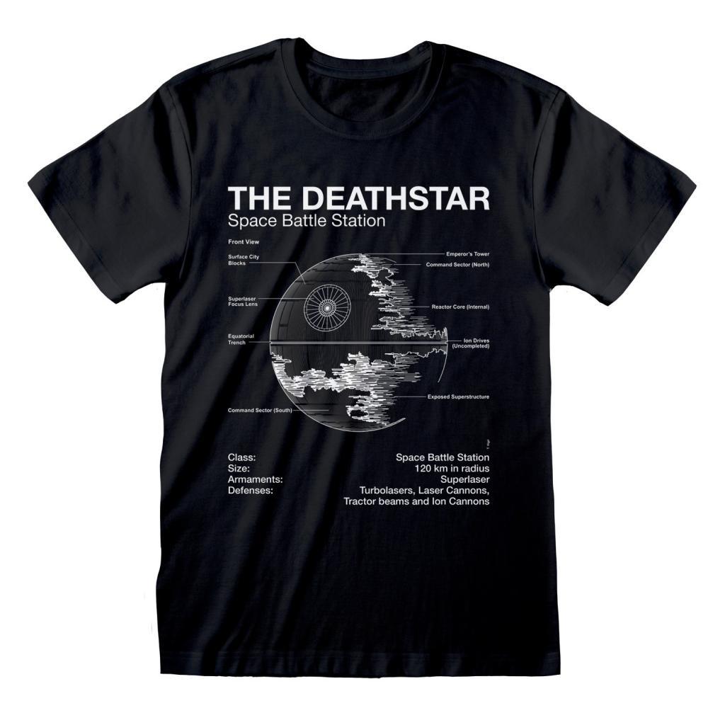 STAR WARS - T-Shirt - Death Star Sketch (XL)