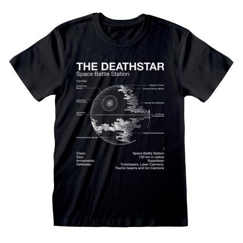 STAR WARS - T-Shirt - Death Star Sketch (XXL)