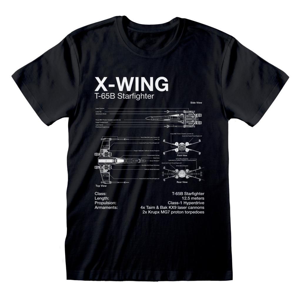STAR WARS - T-Shirt - X-Wing Sketch (L)