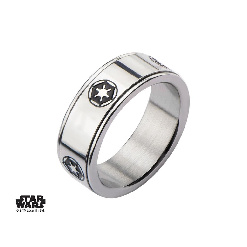 STAR WARS - Men's Stainless Steel Empire Symbol Spinner Ring - Size 10