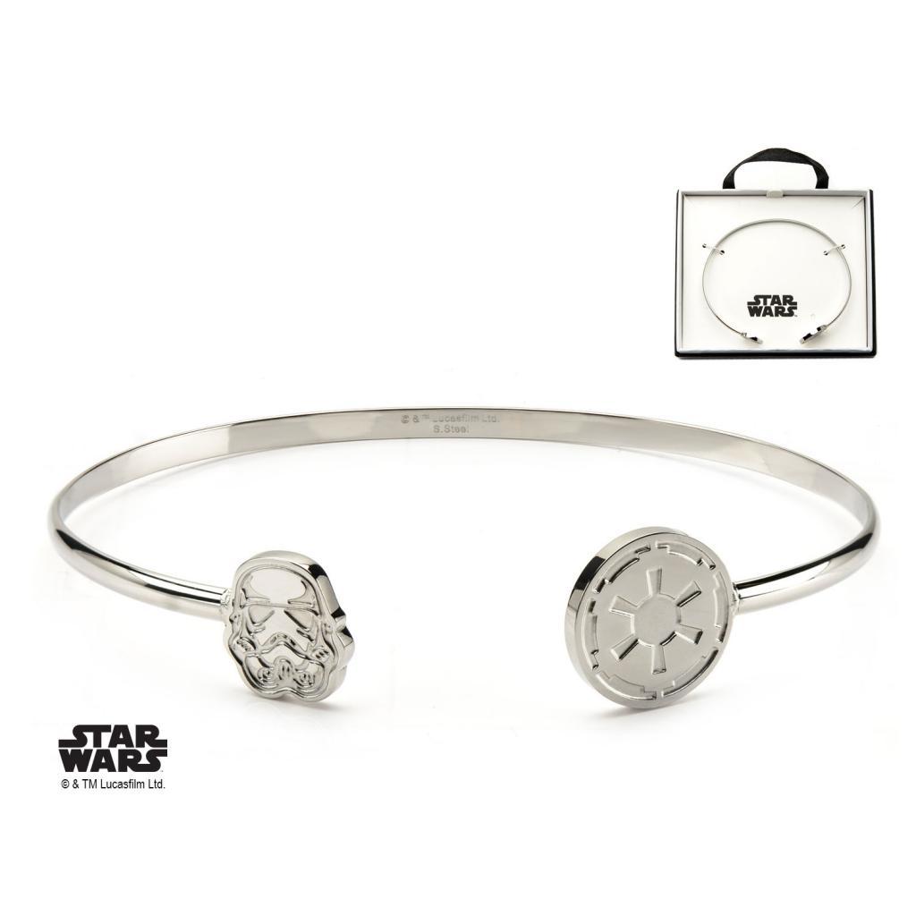 STAR WARS - Women's Stainless Steel Stormtrooper Cuff Bangle Bracelet