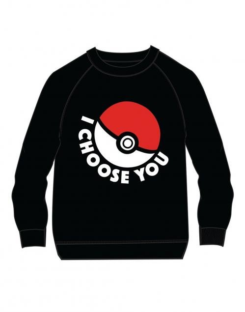 POKEMON - I Choose You Sweater KIDS (140)