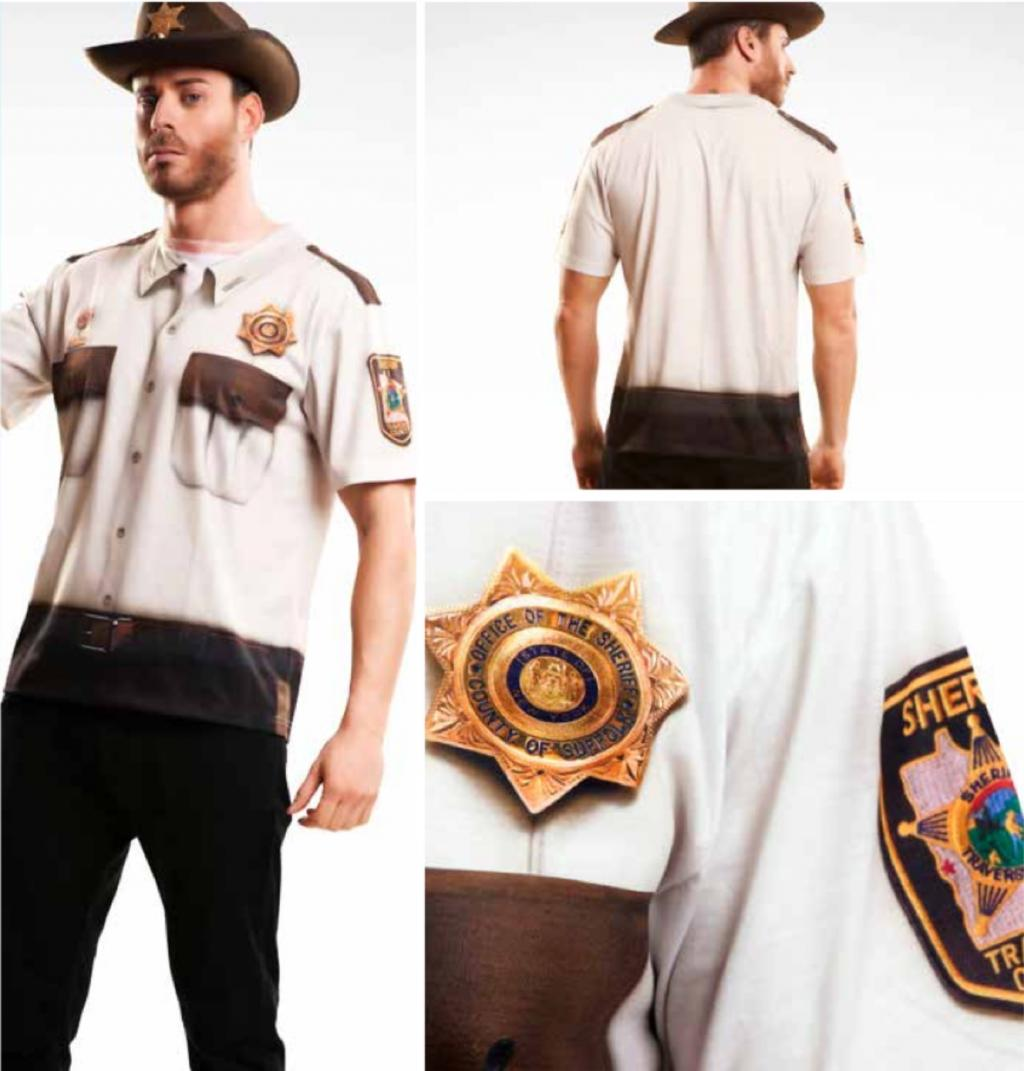 T-Shirt COSPLAY Theme WALKING DEAD - Sheriff (S)_2