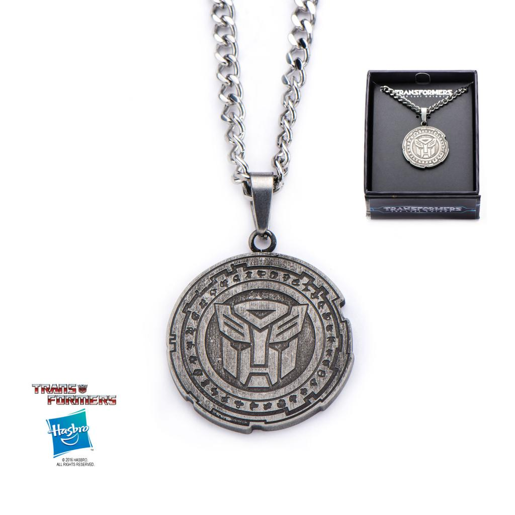 TRANSFORMERS - Metal Autobot Circle Antique Pendant With Chain