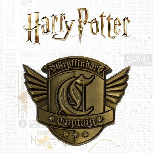 HARRY POTTER - Gryffondor Quidditch - Médaillon édition limitée