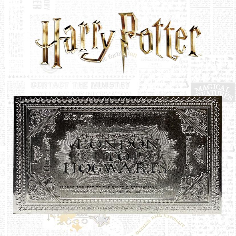 plateforme 9 3//4 The Carat Shop Ensemble de breloques en plaqu/é argent Harry Potter Ticket de train