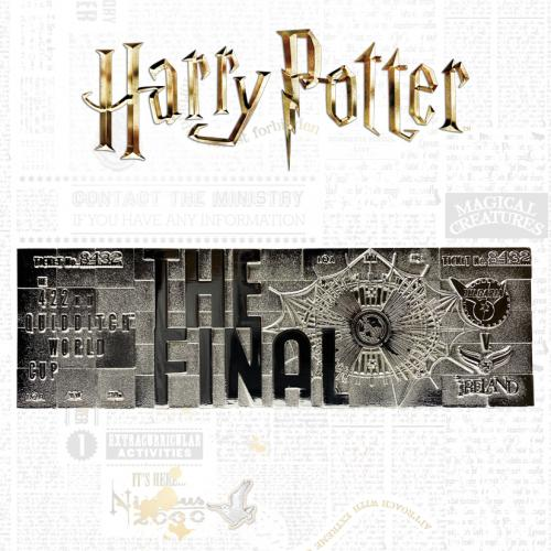 HARRY POTTER - Quidditch World Cup - Ticket plaqué argent collector