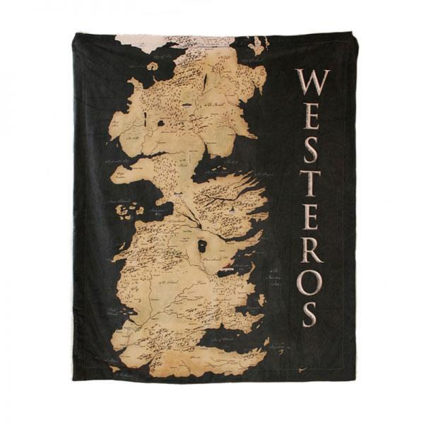 GAME OF THRONES - Throw 125x150 - Westeros Map
