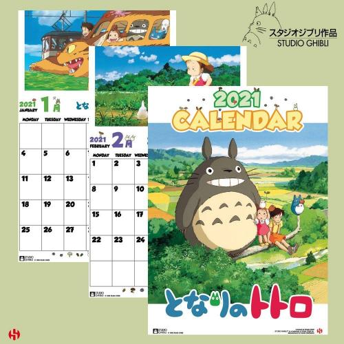 TOTORO - Calendrier 2021 - Version Anglaise