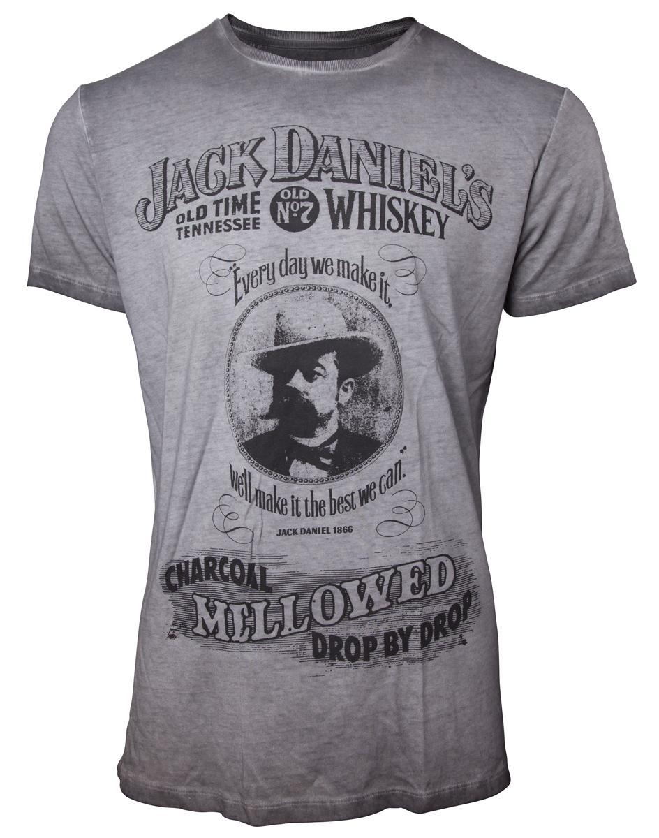 JACK DANIEL'S - T-Shirt PREMIUM - Charcoal Mellowed (L)