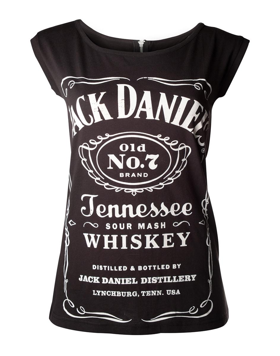 JACK DANIEL'S - T-Shirt GIRL'S with Zipper on Back (L)