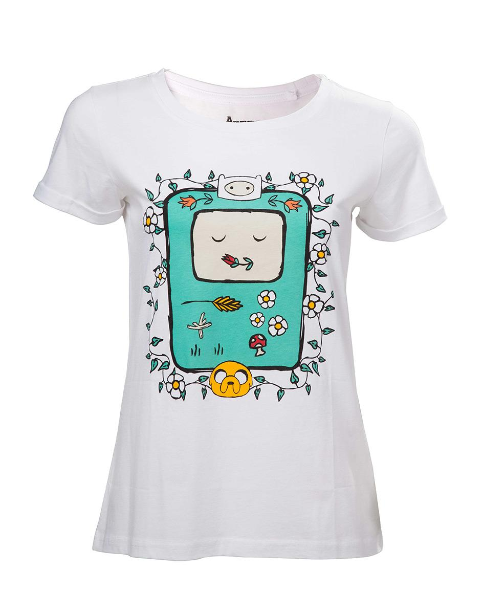 ADVENTURE TIME - T-Shirt BMO Flowers (S)