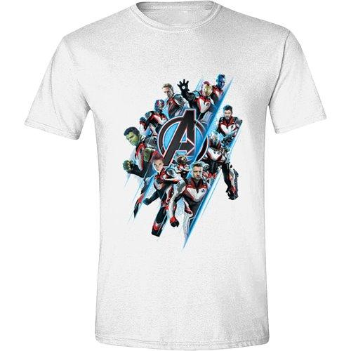 AVENGERS ENDGAME - T-Shirt Logo & Characters (S)