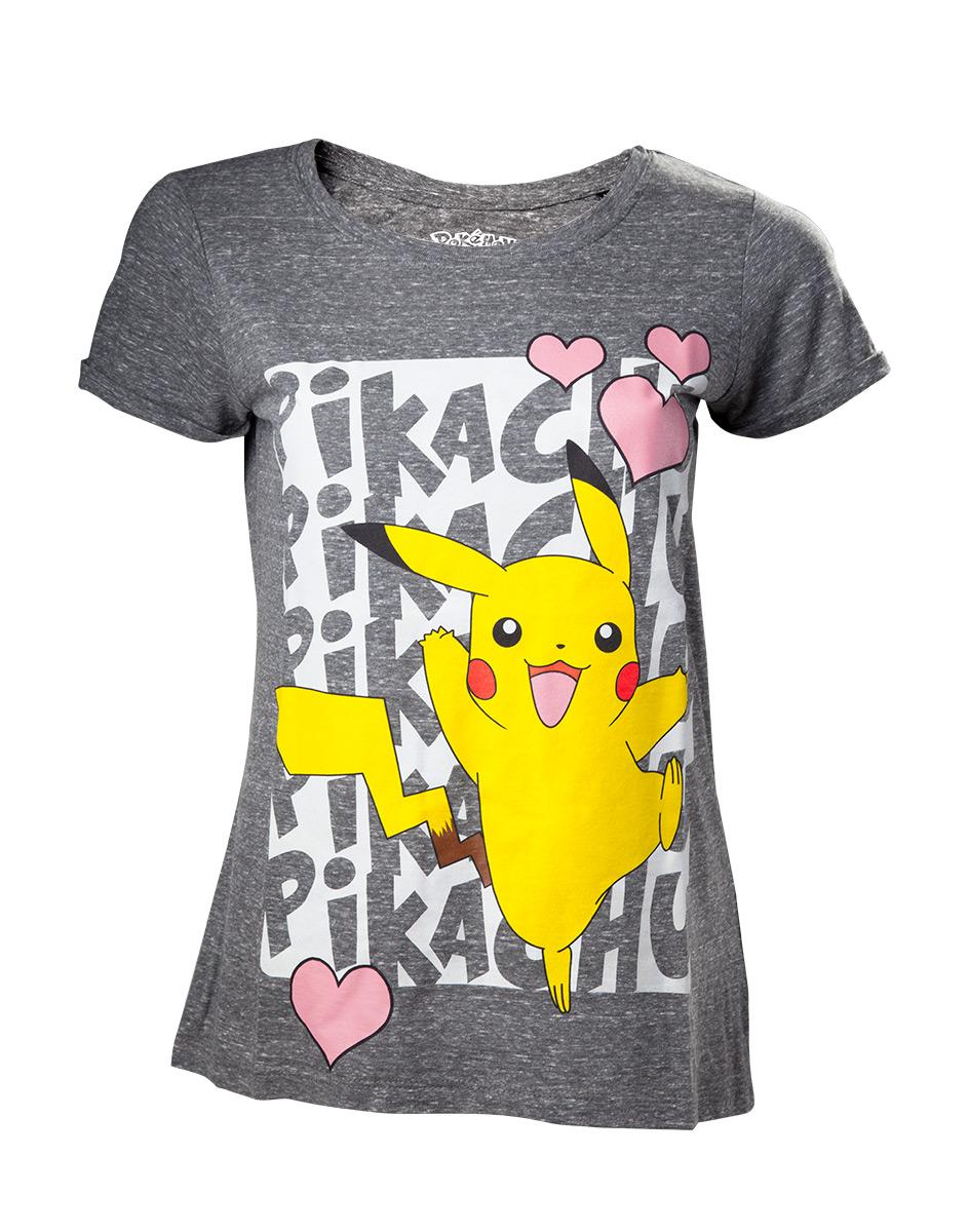 POKEMON - T-Shirt Pikachu Love GIRL (XS)_1