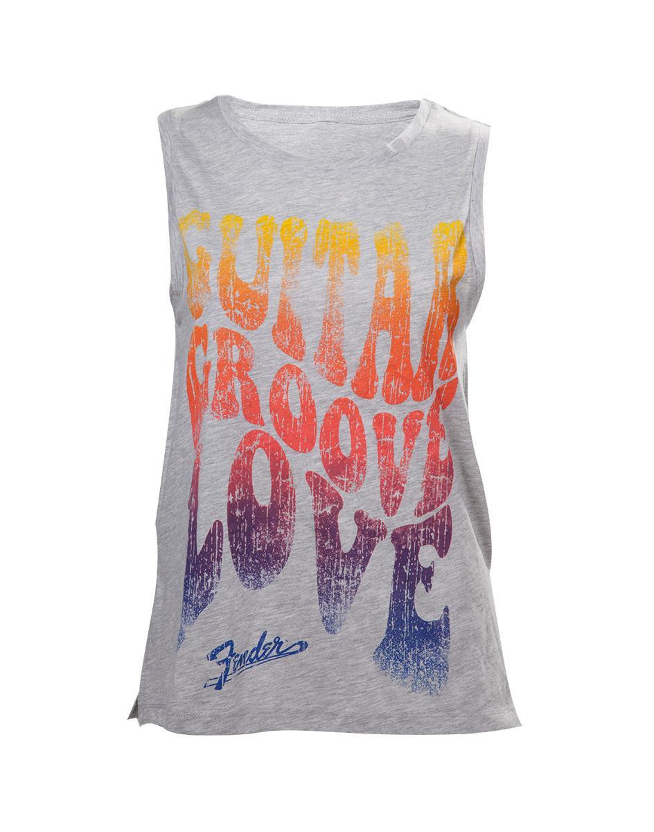 FENDER - T-Shirt Guitar Groove Love - Women's Top (L)