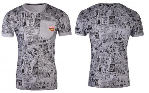 MARVEL COMICS - Grey- T-Shirt Homme (S)