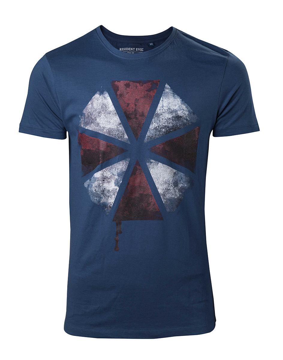 RESIDENT EVIL - T-Shirt Blood Dripping Umbrella Logo (L)