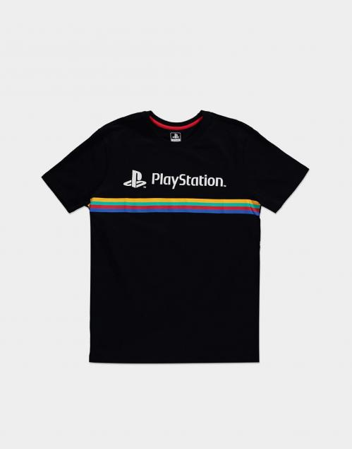 PLAYSTATION - Color Stripe Logo - T-Shirt Homme (S)