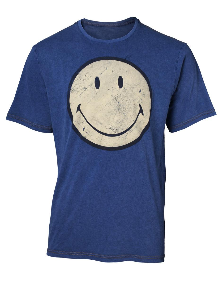 SMILEY - T-Shirt Premium - Faux Denim - Smiley (S)_2