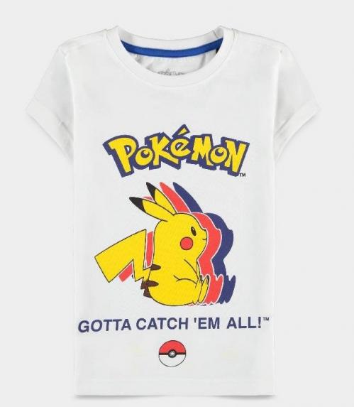 POKEMON - Pika Silhouette - T-Shirt fille (98/104)