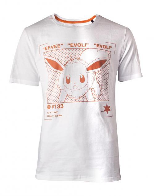 POKEMON - T-Shirt Homme - Eevee Profile (XL)