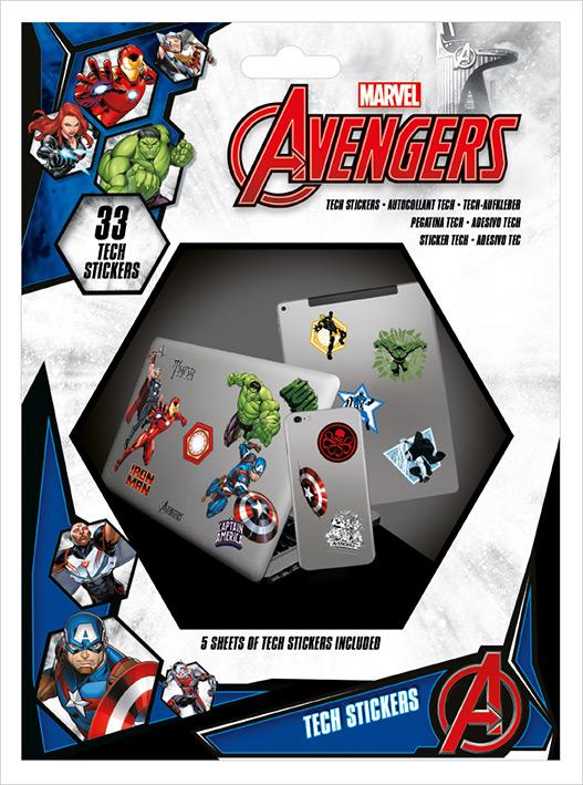 AVENGERS - Tech Stickers Pack - Heroes