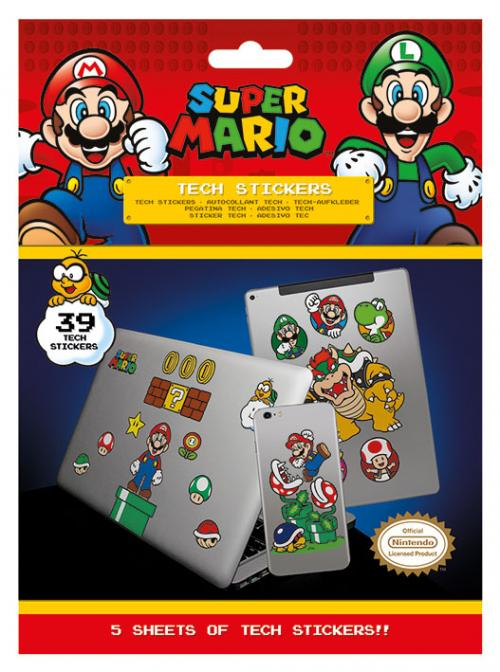 SUPER MARIO - Tech Stickers Pack - Mushroom Kingdom