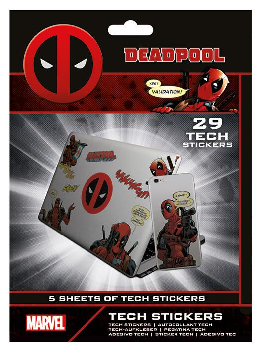 DEADPOOL - Tech Stickers Pack - Merc With A Mouth