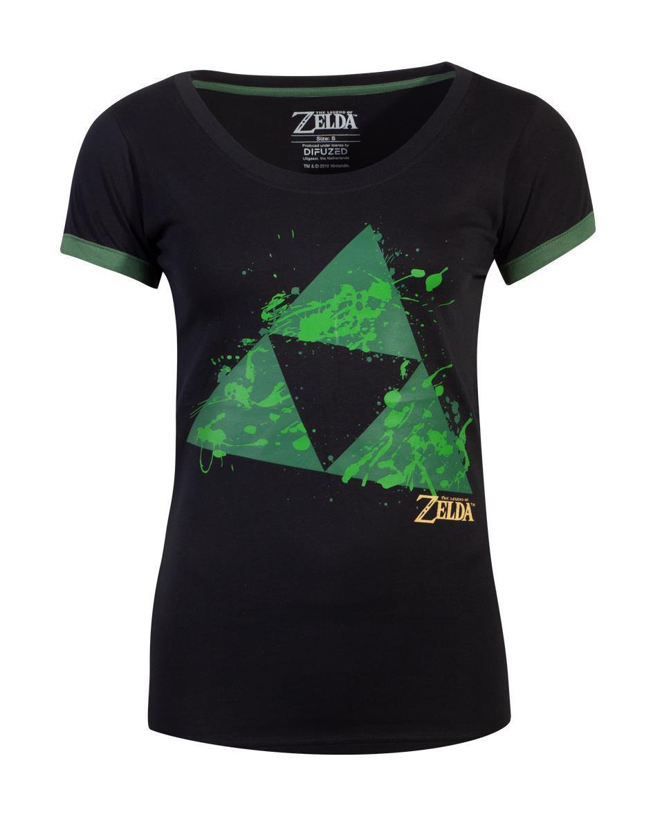 ZELDA - T-Shirt Femme - Triforce Splatter (S)