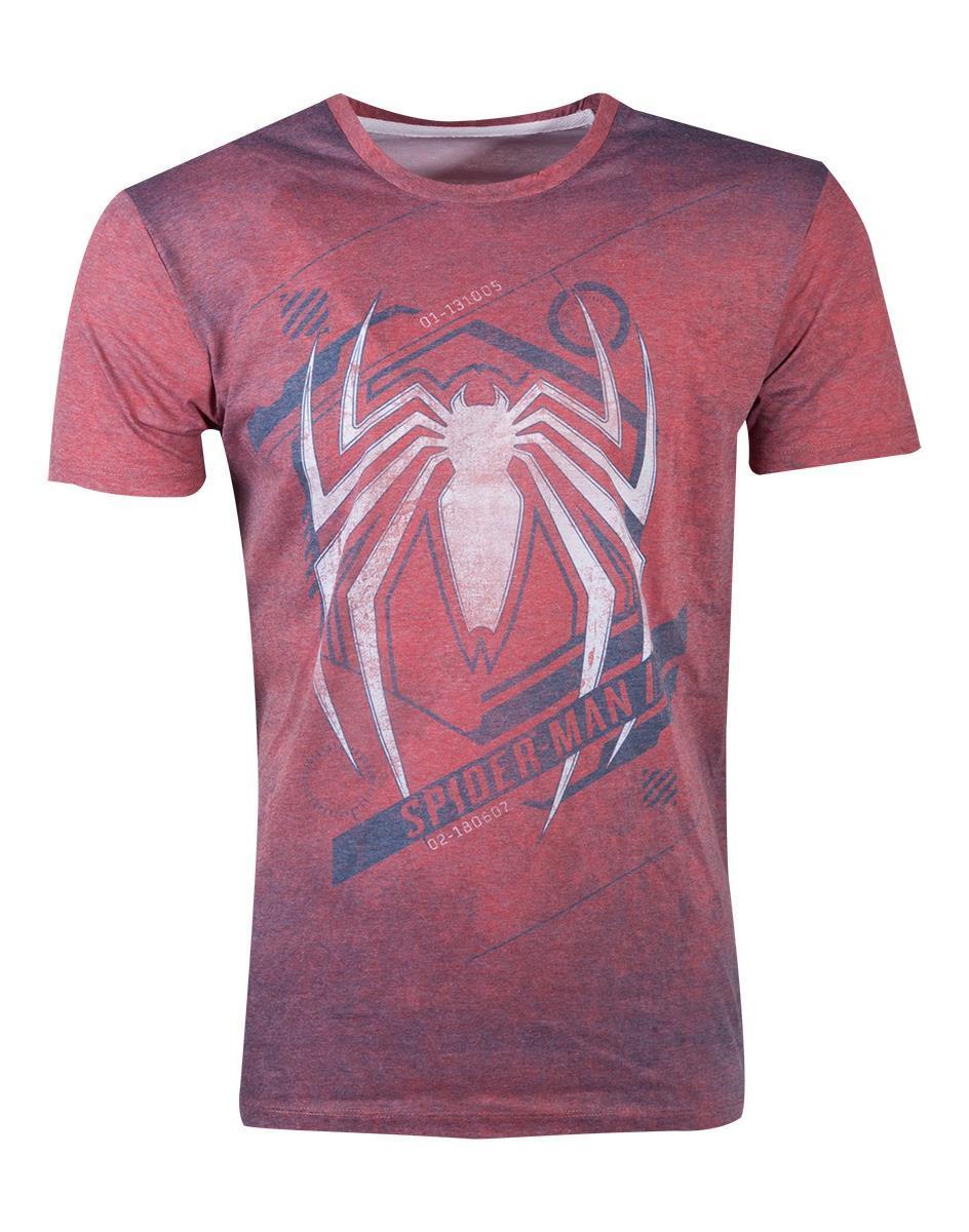 MARVEL - T-Shirt Homme - Spiderman - Acid Wash (S)