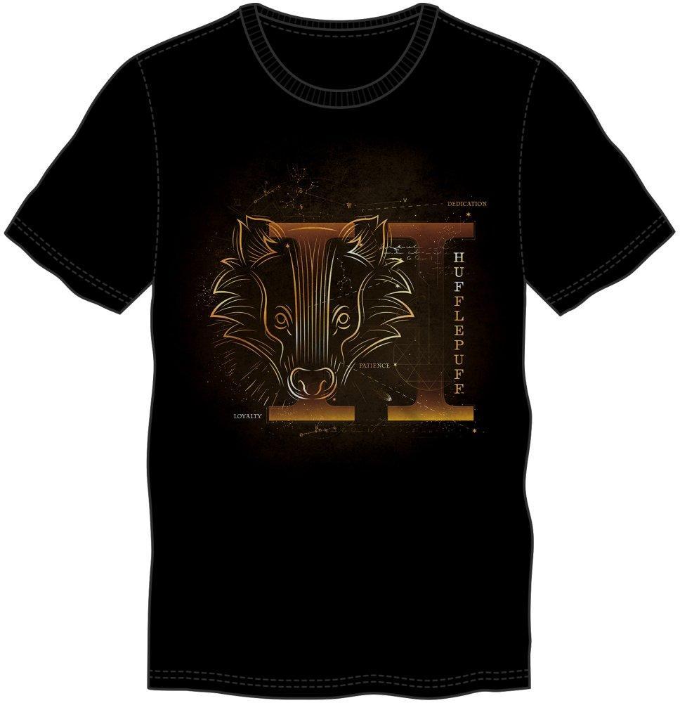 HARRY POTTER - T-Shirt Glow in the Dark - Poufsouffle - (XL)_1