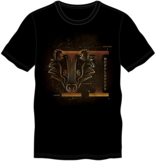 HARRY POTTER - T-Shirt Glow in the Dark - Poufsouffle - (XXL)