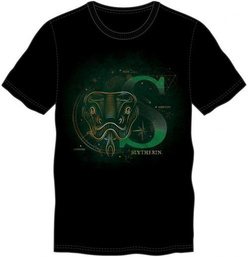 HARRY POTTER - T-Shirt homme Glow in the Dark - Serpentard - (XXL)
