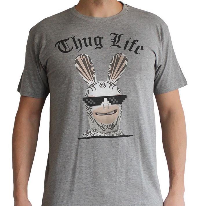LAPINS CRETINS - T-shirt Thug Life (L)