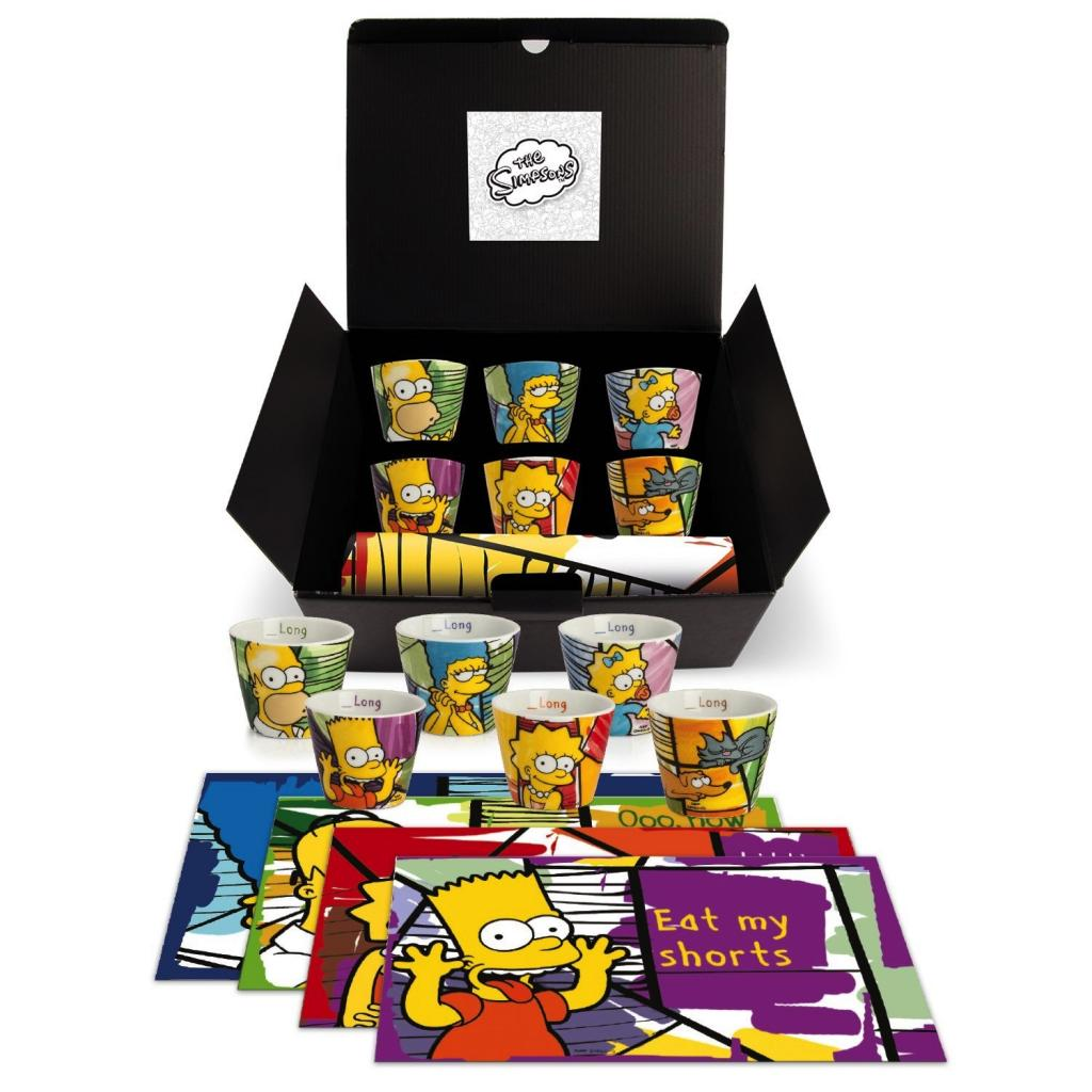 THE SIMPSONS - Gift Box - 6 Express Mug + 1 Set de Table