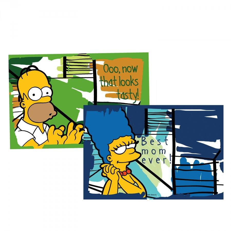 THE SIMPSONS - Set de 2 Set de Table '45x30 cm' - Homer & Marge
