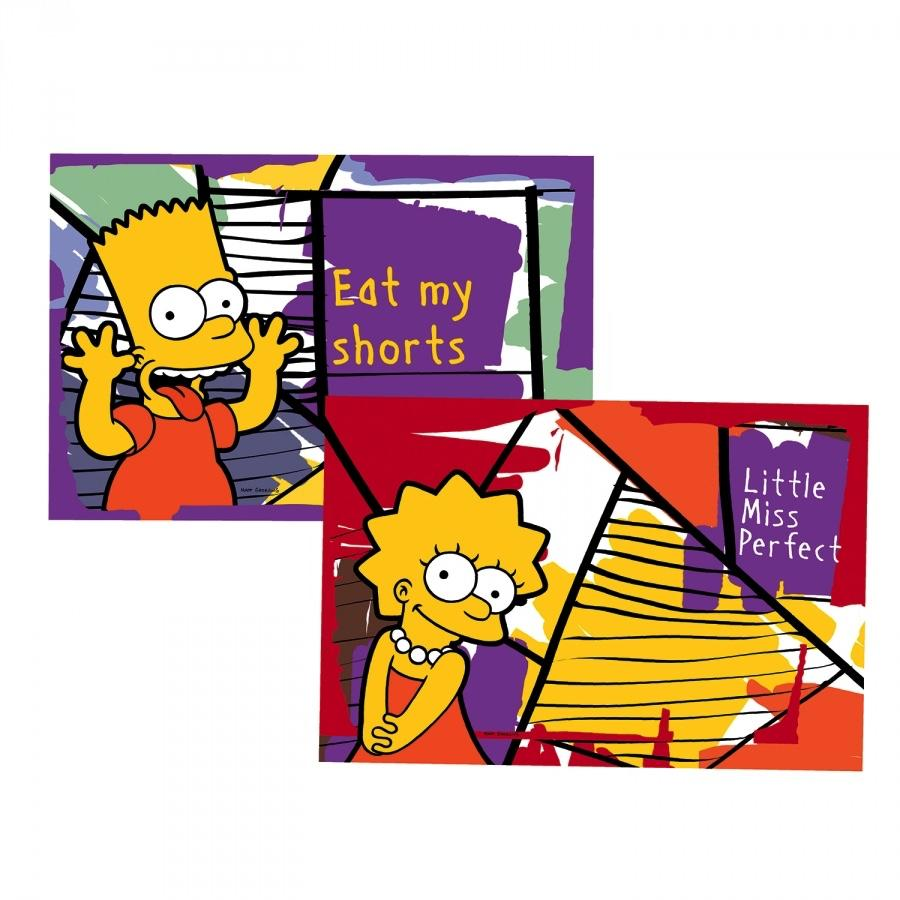 THE SIMPSONS - Set de 2 Set de Table '45x30 cm' - Bart & Lisa