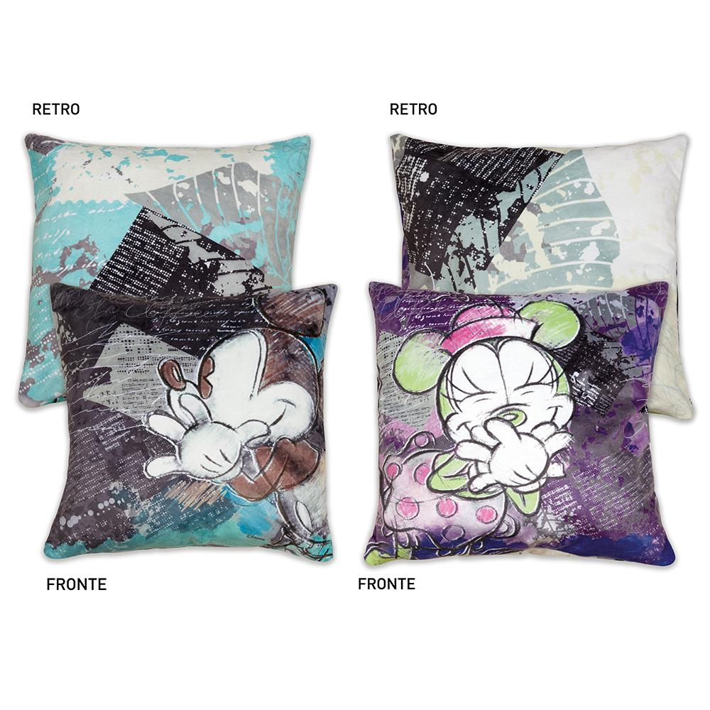 MICKEY THE TRUE ORIGINAL - Set 2 Coussin 40x40 - Purple/Turqoise