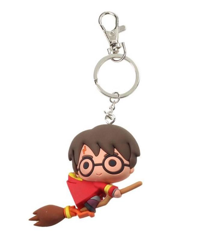 HARRY POTTER - Rubber Figure Keychain - Harry Potter Quidditch