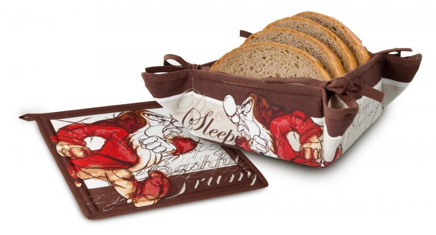 DISNEY / SEVEN DWARFS - Gumpey Set : Bread Basket & Plate Mats