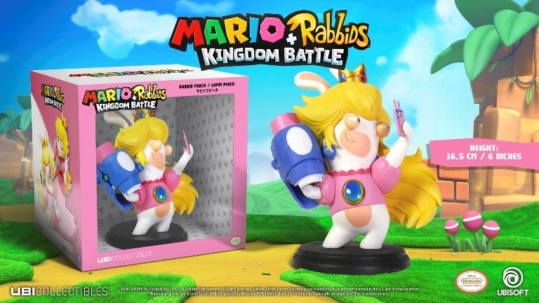 MARIO + RABBIDS KINGDOM - Figurine 6 inch Rabbit Peach (Ubisoft)