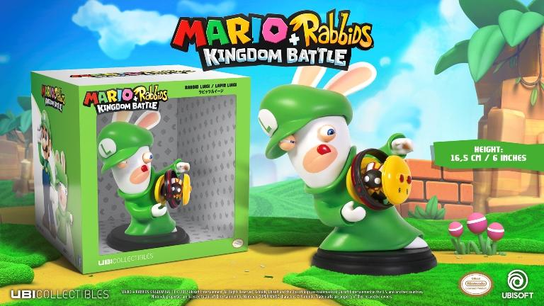 MARIO + RABBIDS KINGDOM - Figurine 6 inch Rabbit Luigi (Ubisoft)