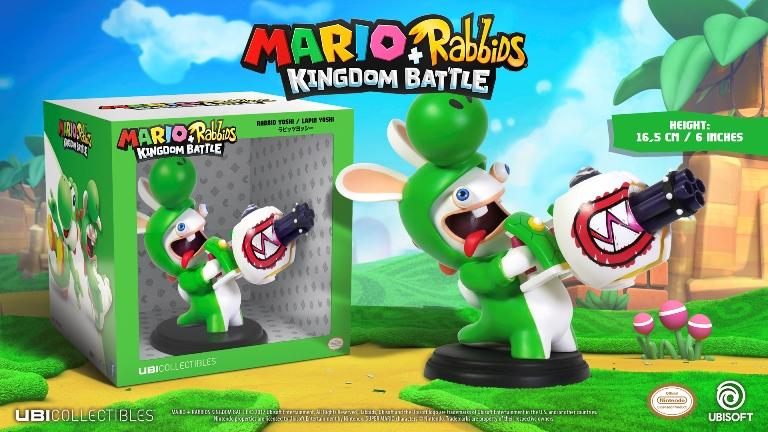 MARIO + RABBIDS KINGDOM - Figurine 6 inch Rabbit Yoshi (Ubisoft)