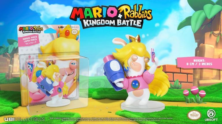 MARIO + RABBIDS KINGDOM - Figurine 3 inch Rabbit Peach (Ubisoft)
