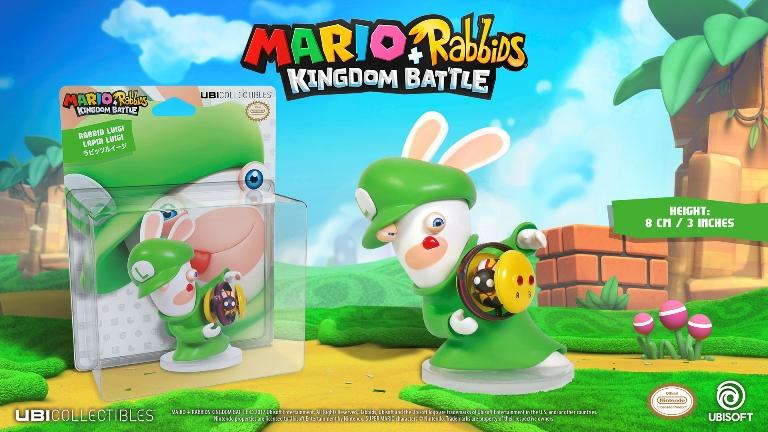 MARIO + RABBIDS KINGDOM - Figurine 3 inch Rabbit Luigi (Ubisoft)