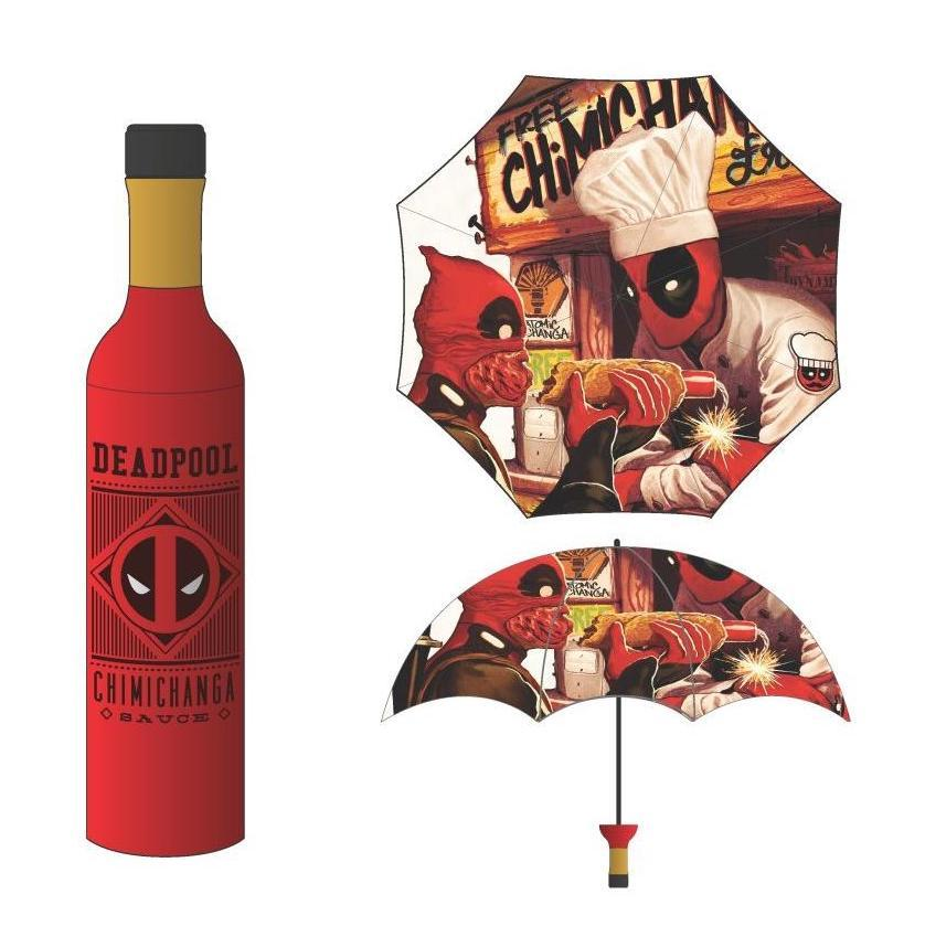 MARVEL - Parapluie - Deadpool Chimichanga Bottle