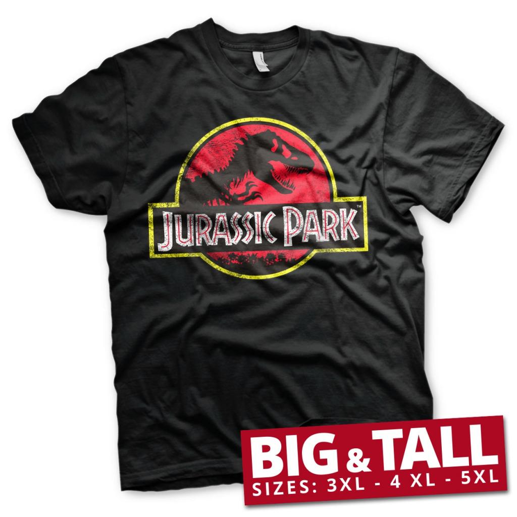 JURASSIC PARK - T-Shirt Big & Tall - Logo Distressed (3XL)