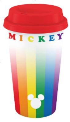 DISNEY - Mickey Rainbow Plastic Lidded Mug