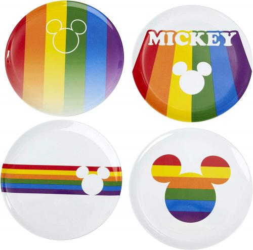 DISNEY - Set d'Assiettes - Mickey Rainbow
